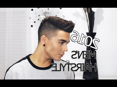 2016 Men's Hairstyle Tutorial | Modern Faux Hawk – Youtube Within The Faux Hawk Mohawk Hairstyles (View 25 of 25)
