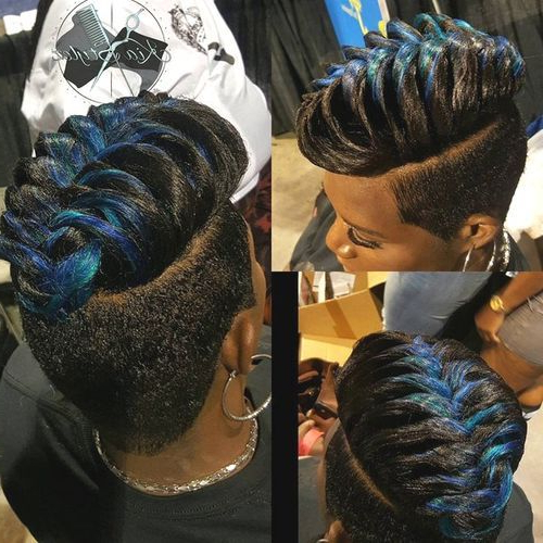 2018 Faux Hawks For Girls And Women Pertaining To The Neelix Faux Hawk Hairstyles (View 15 of 25)