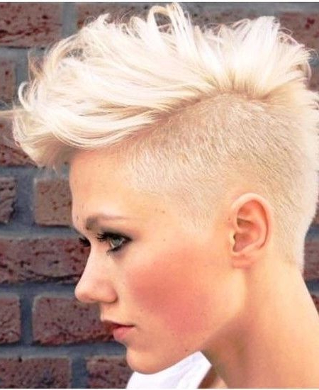 2019 Trendy Faux Hawk Hairstyles For Short Hair | Hairstyles | Hair For Platinum Fauxhawk Haircuts (View 2 of 25)