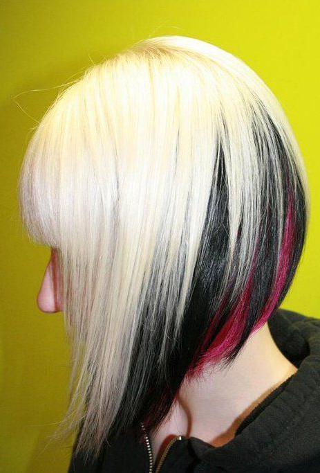 21 Best Cool Hairstyles Images On Pinterest | Braids, Hair Colors With Regard To Spiky Mohawk Hairstyles With Pink Peekaboo Streaks (View 13 of 25)