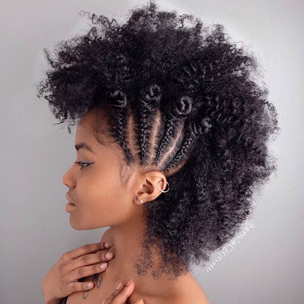 21 Chic And Easy Updo Hairstyles For Natural Hair   Stayglam Inside Cool Mohawk Updo Hairstyles (View 16 of 25)