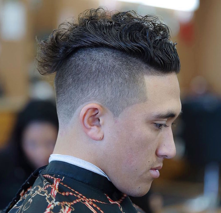 21 Cool Men's Haircuts For Wavy Hair (2019 Update) Inside Curly Haired Mohawk Hairstyles (View 23 of 25)