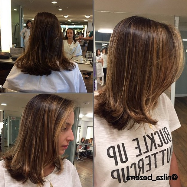 21 Cute Medium Length Bob Hairstyles: Shoulder Length Haircut Ideas Intended For Newest Shoulder Length Haircuts With Flicked Ends (View 14 of 25)