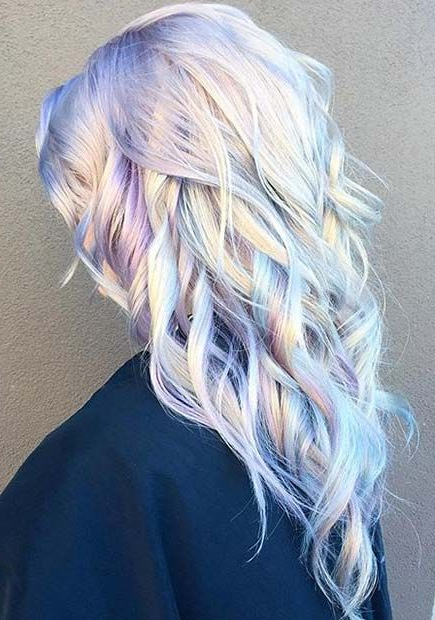 21 Pastel Hair Color Ideas For 2018 | Stayglam Hairstyles | Hair Intended For Holograph Hawk Hairstyles (View 24 of 25)