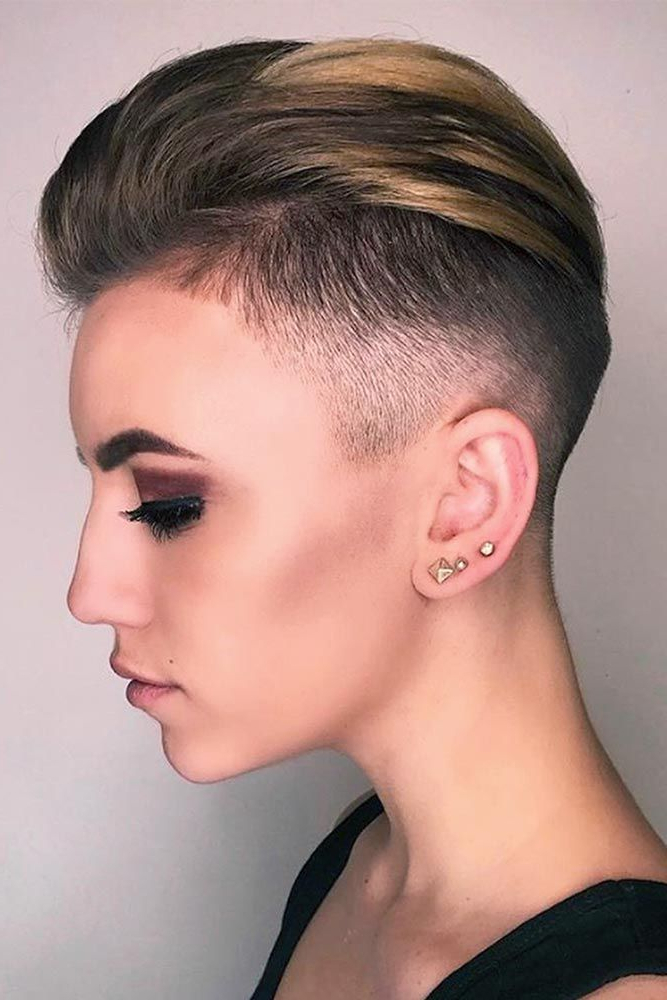 21 Super Daring Disconnected Undercut Styles | Top Short Hair Girl In Holograph Hawk Hairstyles (View 22 of 25)