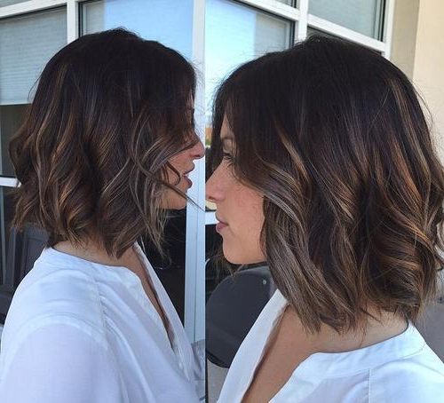 22 Best Lob Hairstyles 2019 With 2018 Caramel Lob Hairstyles With Delicate Layers (View 6 of 25)