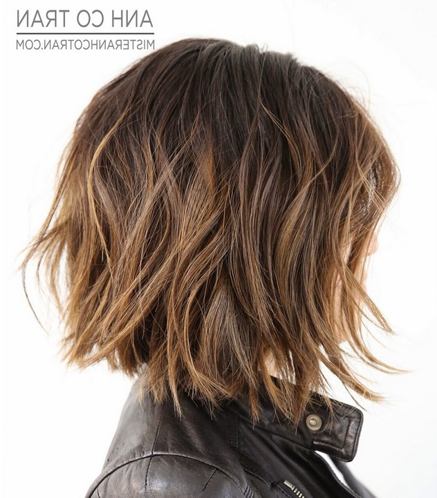 23 Cute Bob Haircuts & Styles For Thick Hair: Short, Shoulder Length For Latest Uneven Layered Bob Hairstyles For Thick Hair (View 15 of 25)