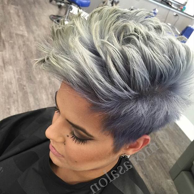23 Faux Hawk Hairstyles For Women | Hair & Beauty | Pinterest With Platinum Fauxhawk Haircuts (View 3 of 25)