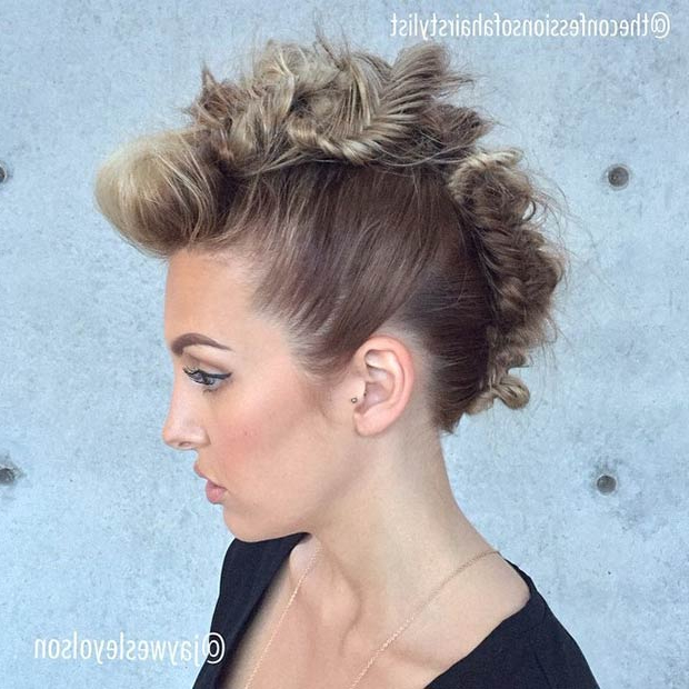 23 Faux Hawk Hairstyles For Women – Page 15 – Foliver Blog Throughout Messy Fishtail Faux Hawk Hairstyles (View 5 of 25)