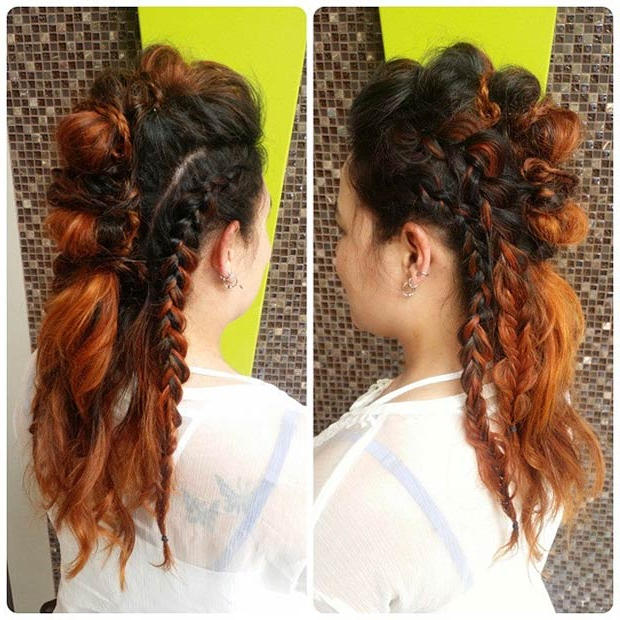 23 Faux Hawk Hairstyles For Women | Page 2 Of 2 | Stayglam For Messy Braided Faux Hawk Hairstyles (View 9 of 25)