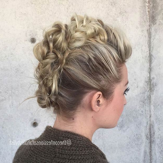 23 Faux Hawk Hairstyles For Women | Page 2 Of 2 | Stayglam In French Braid Pinup Faux Hawk Hairstyles (View 6 of 25)