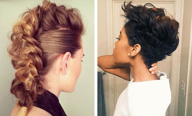 23 Faux Hawk Hairstyles For Women | Stayglam For Messy Braided Faux Hawk Hairstyles (View 3 of 25)