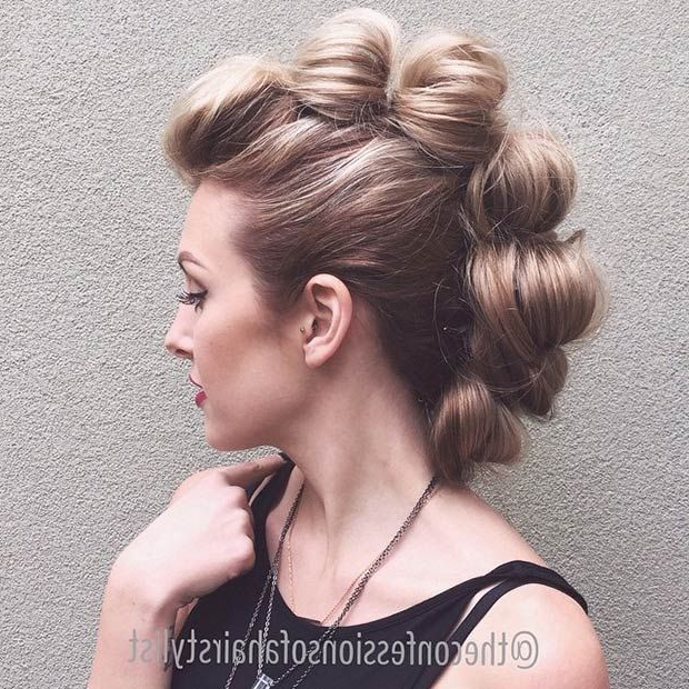 23 Faux Hawk Hairstyles For Women | Stayglam Hairstyles | Pinterest In Glamorous Mohawk Updo Hairstyles (View 2 of 25)