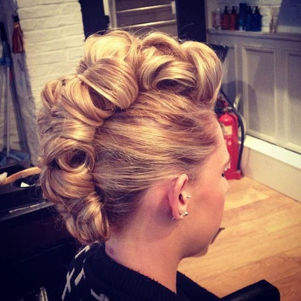 23 Faux Hawk Hairstyles For Women | Stayglam Hairstyles | Pinterest With Vibrant Red Mohawk Updo Hairstyles (View 6 of 25)
