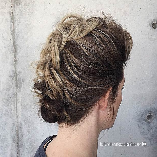 23 Faux Hawk Hairstyles For Women | Stayglam Throughout Messy Braided Faux Hawk Hairstyles (View 15 of 25)