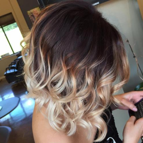 23 Hottest Ombre Bob Hairstyles – Latest Ombre Hair Color Ideas 2018 With Best And Newest Medium Haircuts With Fiery Ombre Layers (View 8 of 25)