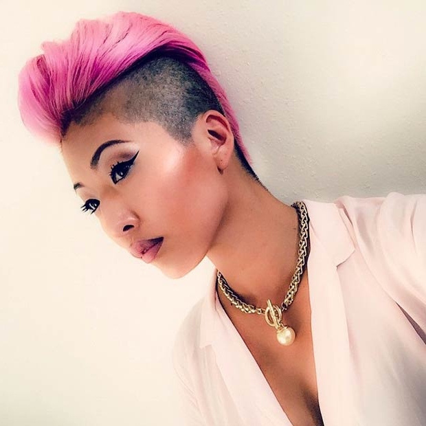 23 Most Badass Shaved Hairstyles For Women   Stayglam Throughout Funky Pink Mohawk Hairstyles (View 13 of 25)