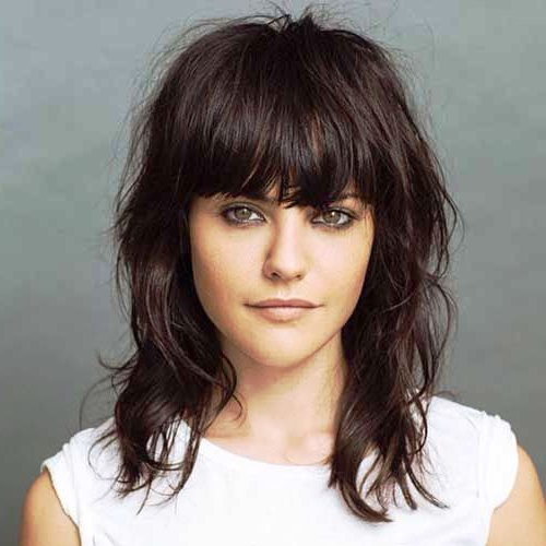 23 Superb Long Shag Haircuts To Make The Jaws Drop Inside Current Brunette Messy Shag Hairstyles (View 15 of 25)