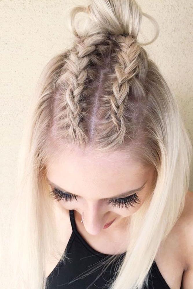 24 Dazzling Ideas Of Braids For Short Hair | Hair | Pinterest Regarding Mini Braided Babe Mohawk Hairstyles (View 10 of 25)