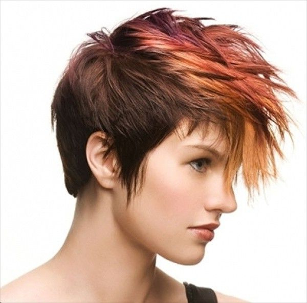 24 Fun & Sexy Short Brown Hairstyles 2018 – Dark & Light Brown In Holograph Hawk Hairstyles (View 14 of 25)