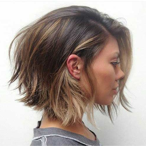 25 Chic Short Hairstyles For Thick Hair – The Trend Spotter Inside 2018 Uneven Layered Bob Hairstyles For Thick Hair (View 9 of 25)