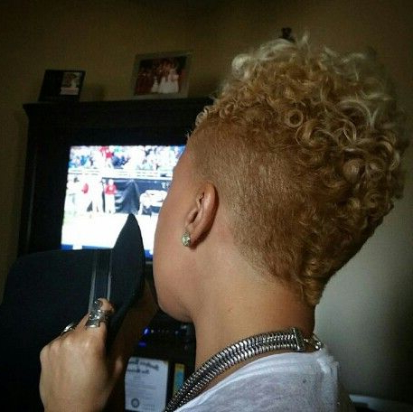 25 Cute Curly And Natural Short Hairstyles For Black Women In 2019 With Bed Head Honey Mohawk Hairstyles (View 11 of 25)