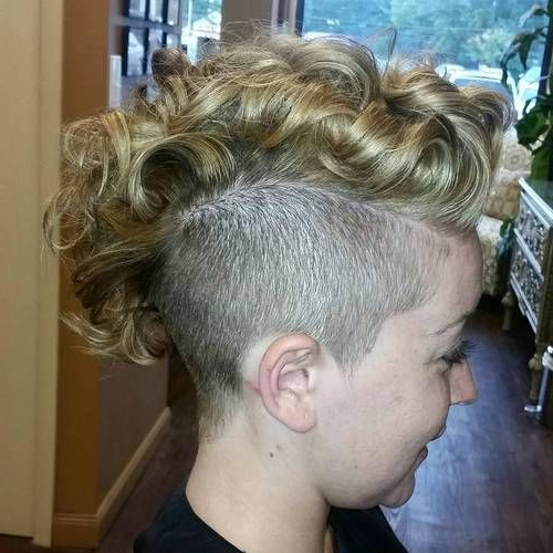 25 Exquisite Curly Mohawk Hairstyles For Girls And Women | Beauty Within Purple Rain Lady Mohawk Hairstyles (View 16 of 25)