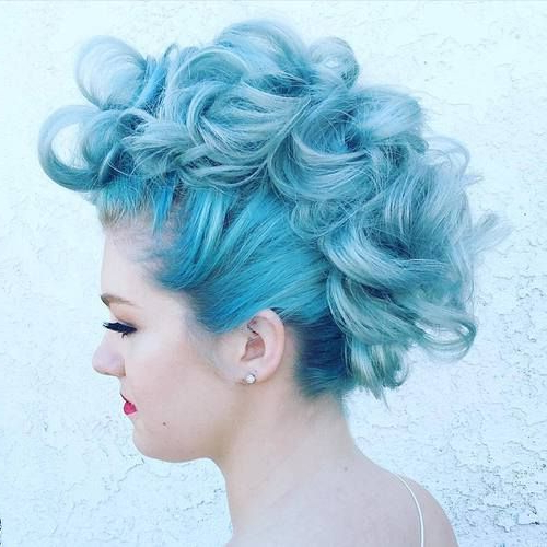 25 Exquisite Curly Mohawk Hairstyles For Girls And Women | Hair Inside Retro Pop Can Updo Faux Hawk Hairstyles (View 12 of 25)