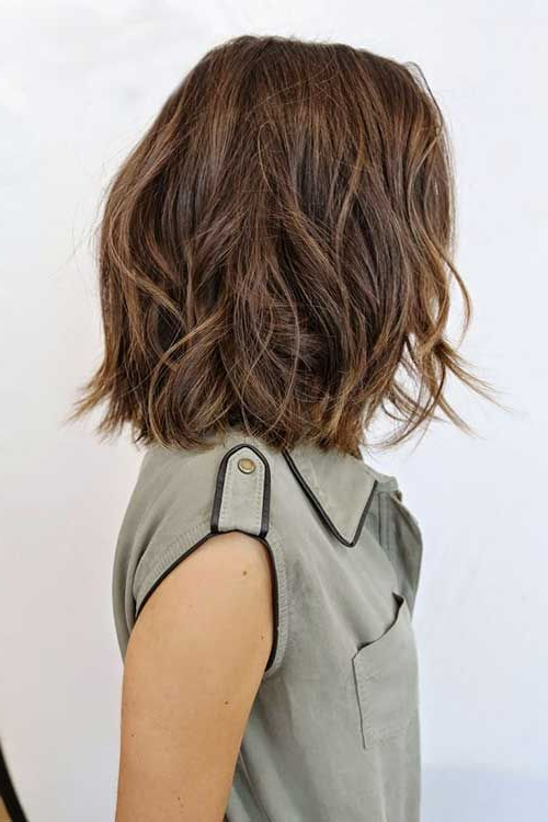 25 Latest Medium Hairstyles For Wavy Hair … | Hair | Pinte… Pertaining To Most Popular Choppy Waves Hairstyles (View 6 of 25)
