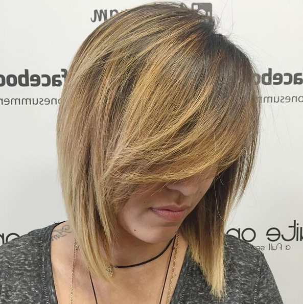 25 Stylish Bob Hairstyles With Bangs –Style & Colour In Perfect In Latest Perfect Layered Blonde Bob Hairstyles With Bangs (View 5 of 25)
