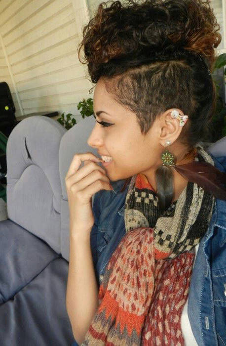 25 Wild & Fashionable Mohawk Hairstyles For Black Women Inside Long Lock Mohawk Hairstyles (View 25 of 25)