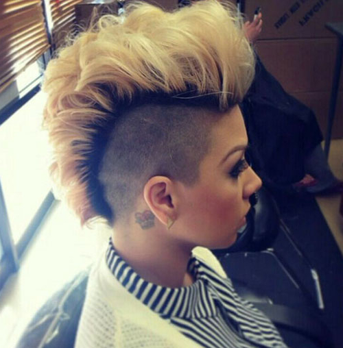 25 Wild & Fashionable Mohawk Hairstyles For Black Women With Unique Color Mohawk Hairstyles (View 8 of 25)
