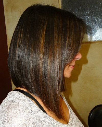 Featured Photo of Straight Layered Tresses In A Line Hairstyles