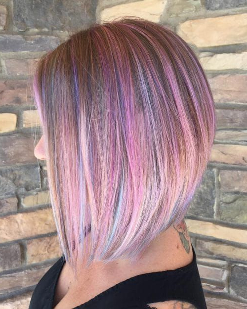 26 Angled Bob Hairstyles Trending Right Right Now For 2019 | Great Within Recent Medium Angled Purple Bob Hairstyles (View 2 of 25)