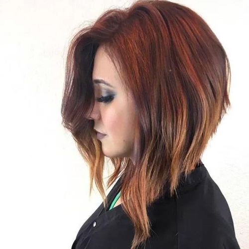 26 Angled Bob Hairstyles Trending Right Right Now For 2019 Within 2018 Long Angled Bob Hairstyles With Chopped Layers (View 10 of 25)