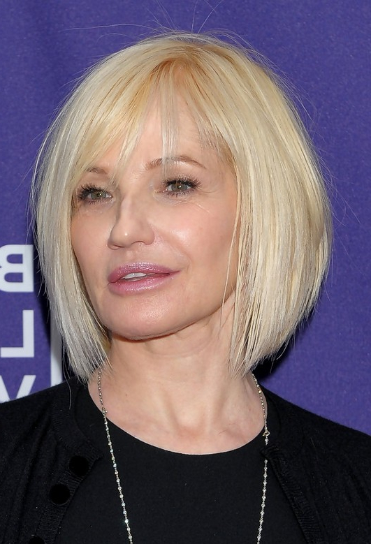 26 Simple Easy Hairstyles & Haircuts For Women Over 50 – Hairstyles Within Current Perfect Layered Blonde Bob Hairstyles With Bangs (View 13 of 25)