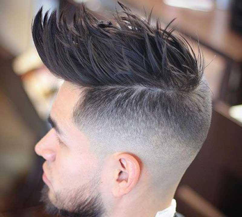 26 Trendy Faux Hawk Hairstyle Ideas For Men | Simon's Suits Inside Voluminous Tapered Hawk Hairstyles (View 2 of 25)