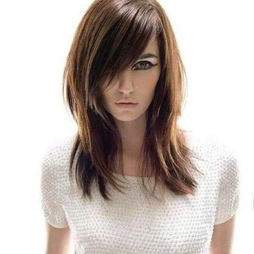 27 Elegant Medium Straight Hairstyles – Look Phenomenal Now Inside Most Up To Date Elongated Layered Haircuts For Straight Hair (View 24 of 25)