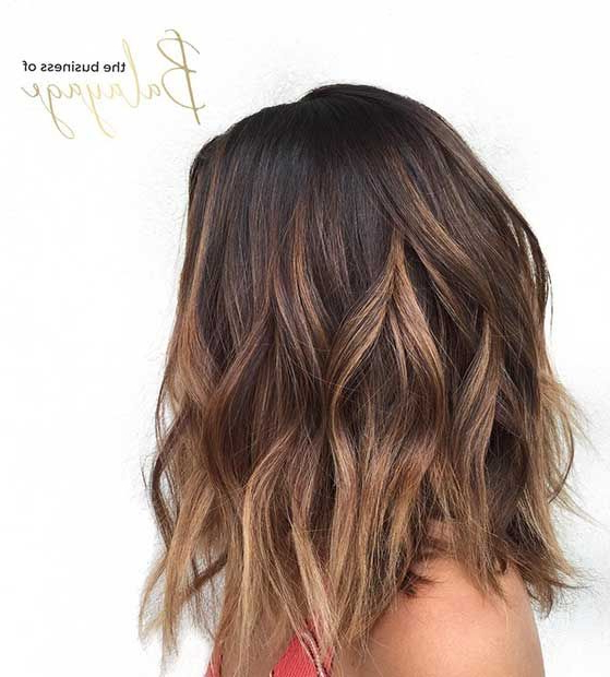 27 Pretty Lob Haircut Ideas You Should Copy In 2017 | Stayglam In Most Current Caramel Lob Hairstyles With Delicate Layers (View 5 of 25)