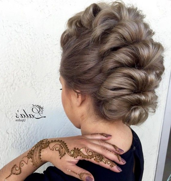 27 Super Trendy Updo Ideas For Medium Length Hair   Hair   Pinterest Within Cool Mohawk Updo Hairstyles (View 15 of 25)