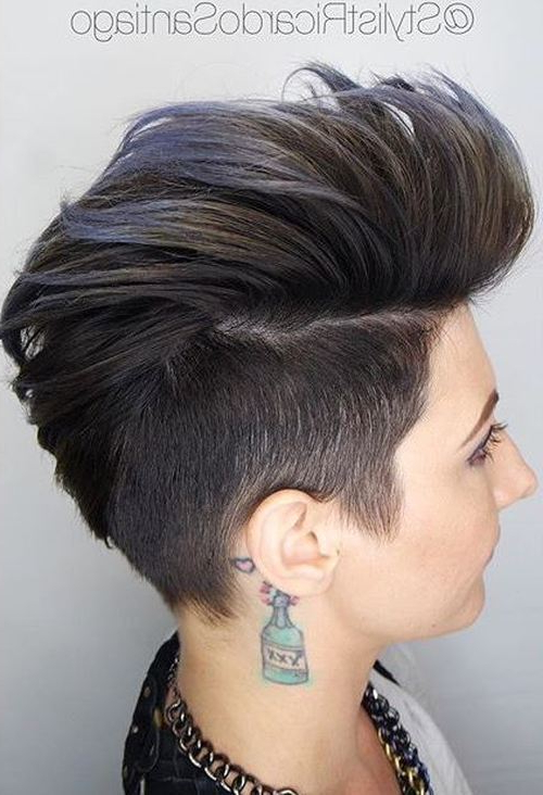 28 Trendy Faux Hawk Hairstyles For Women 2019 – Pretty Designs Throughout Messy Braided Faux Hawk Hairstyles (View 4 of 25)