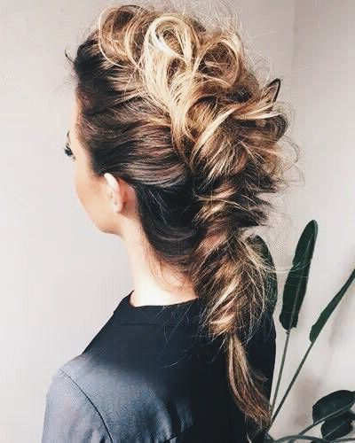 28 Trendy Faux Hawk Hairstyles For Women 2019 – Pretty Designs Within French Braid Pinup Faux Hawk Hairstyles (View 7 of 25)