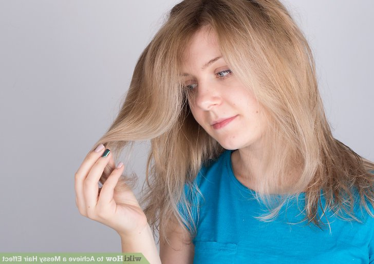 3 Ways To Achieve A Messy Hair Effect – Wikihow Regarding Best And Newest Layered, Flipped, And Tousled Hairstyles (View 23 of 25)