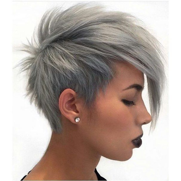 30 Cute Pixie Cuts: Short Hairstyles For Oval Faces | Favorite Regarding Stunning Silver Mohawk Hairstyles (View 3 of 25)