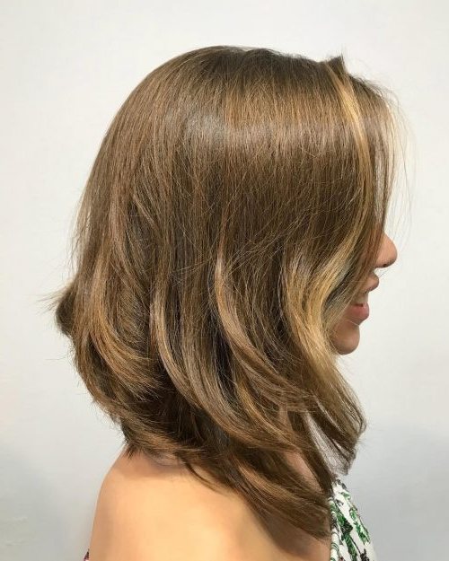 30 Cutest Long Bob Haircuts & Lob Styles Of 2019 Intended For Recent Two Tier Caramel Blonde Lob Hairstyles (View 10 of 25)
