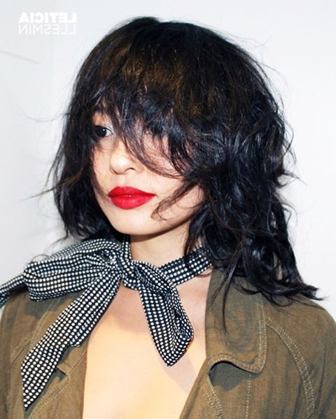 30 Edgy Medium Length Haircuts For Thick Hair [October, 2018] Throughout Most Current Voluminous Wavy Layered Hairstyles With Bangs (View 19 of 25)