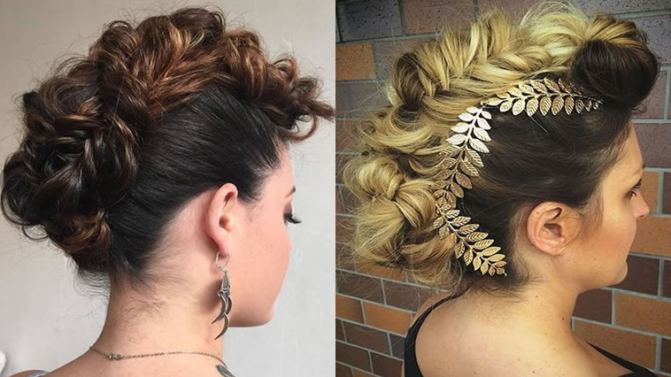 30 Glamorous Braided Mohawk Hairstyles For Girls And Women – Hairstyles With Regard To Glamorous Mohawk Updo Hairstyles (View 3 of 25)