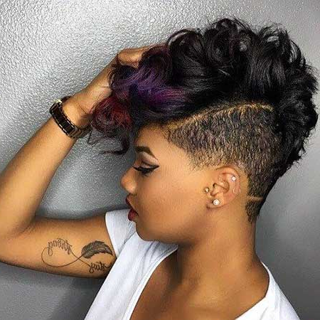 30 Pics Of Stylish Curly Mohawk Hairstyles For Black Women Regarding Short Curly Mohawk Hairstyles (View 3 of 25)