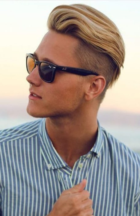 30 Sexy Blonde Hairstyles For Men – The Trend Spotter Intended For Mohawk Haircuts With Blonde Highlights (View 12 of 25)