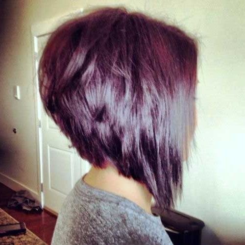 30 Stacked Bob Haircuts For Sophisticated Short Haired Women With Recent Burgundy Bob Hairstyles With Long Layers (View 7 of 25)